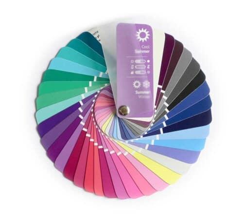 Farbpass Farben Sommer-Winter Farbtyp