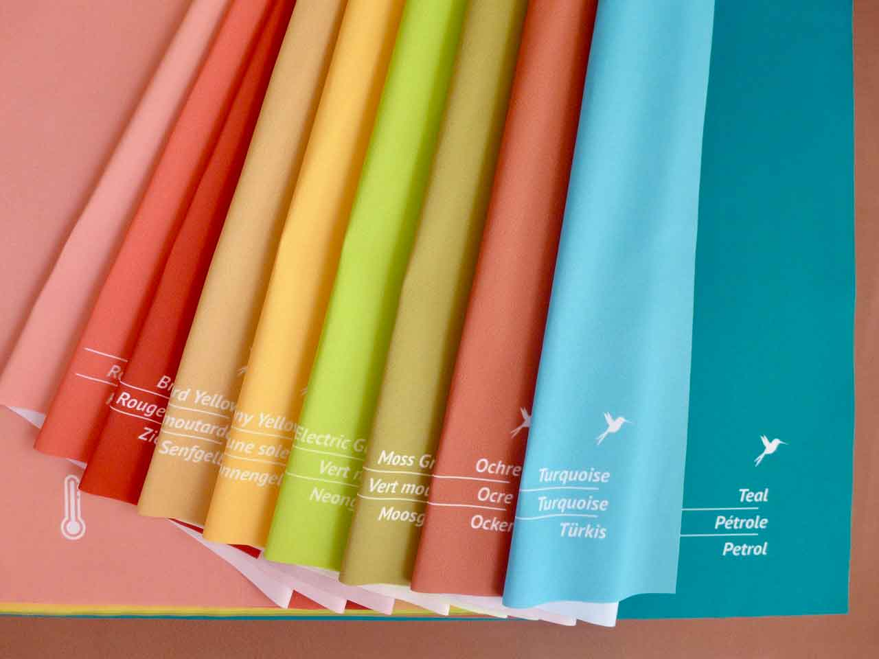 Analyse-Tuchset warm für Farb- und Stilberatung