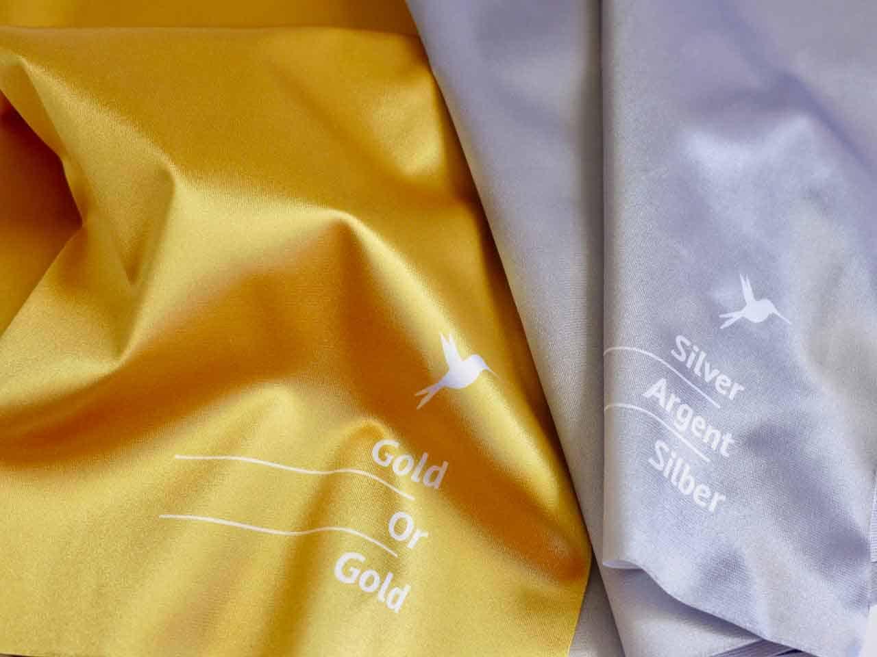 Gold-Silber-Tücher Detailsicht