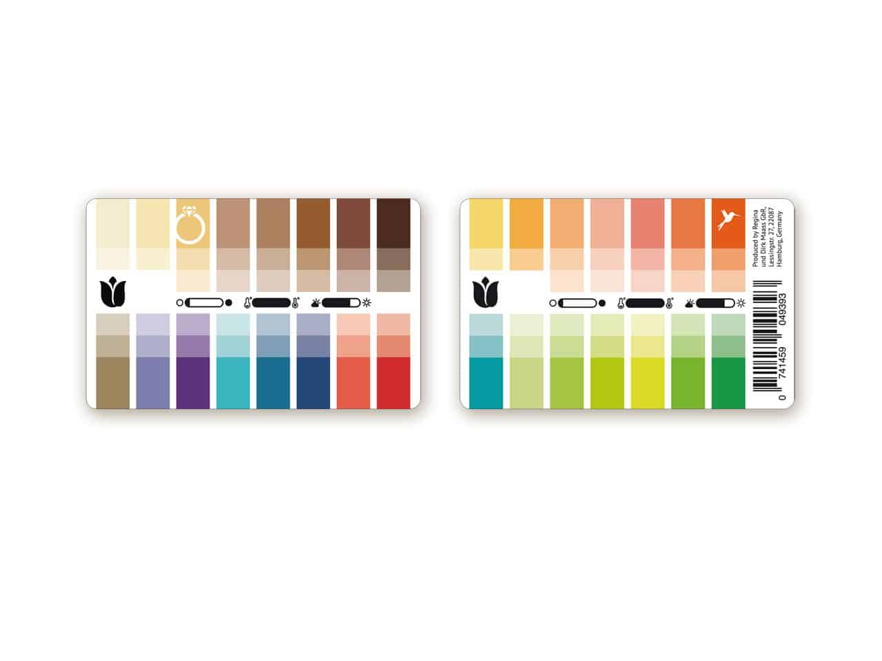 Farbtyp Frühling Farbpass als Plastikkarte