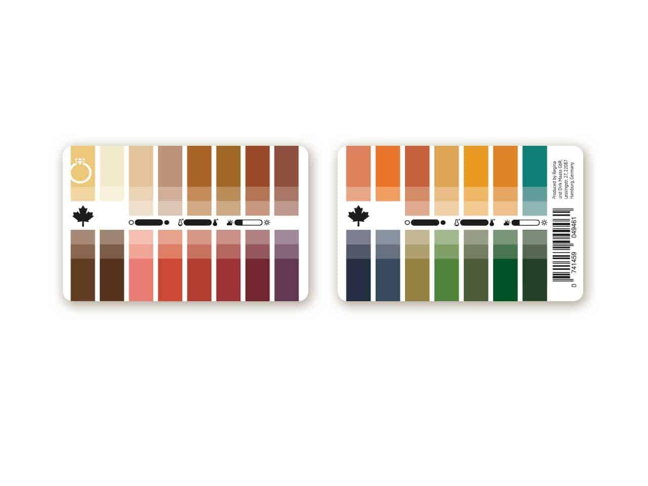 Farbtyp Herbst Farbpass als Plastikkarte