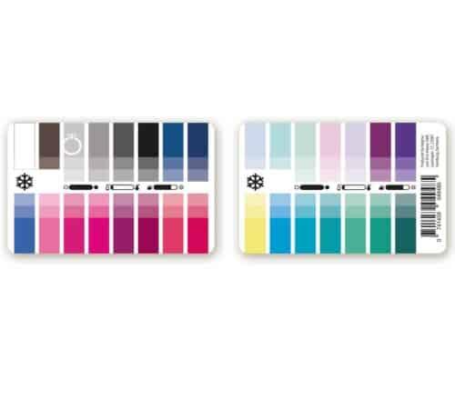 Farbtyp Winter Farbpass als Plastikkarte