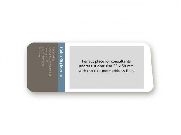 Profi-Farbpass mit Adressaufkleber