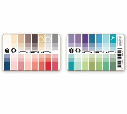 Farbtyp Frühling-Sommer Farbpass als Plastikkarte