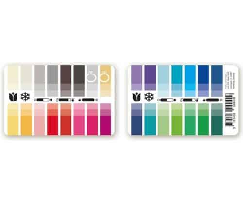 Farbtyp Frühling-Winter Farbpass als Plastikkarte