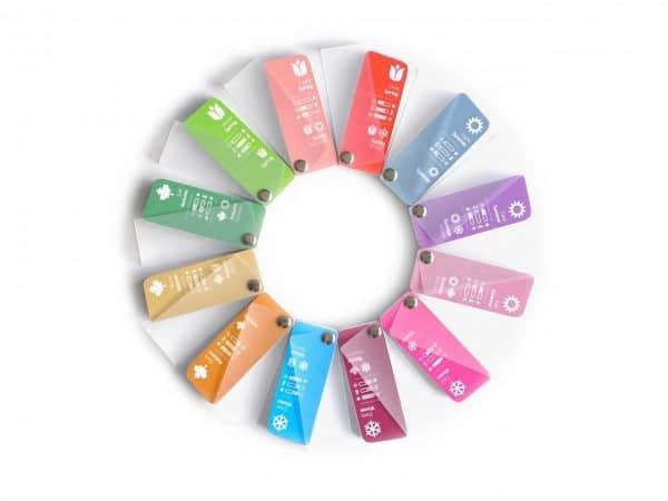 Farbpass Farbpässe Sortiment für 12 Farbtypen