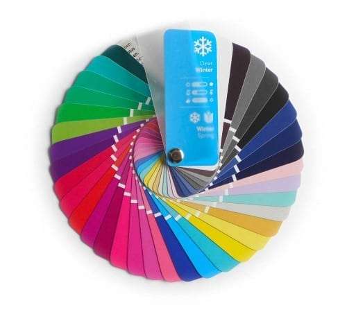 Farbpass Farben Winter-Frühling Farbtyp Clear Winter