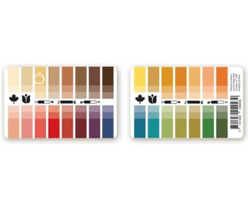 Farbtyp Herbst-Frühling Farbpass als Plastikkarte