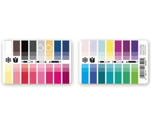 Farbtyp Winter-Frühling Farbpass als Plastikkarte