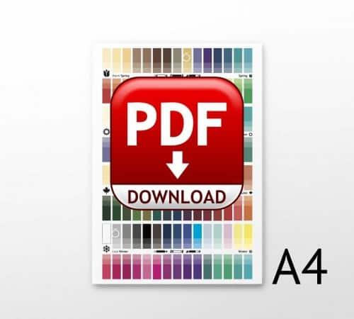Farbpassvorlagen für 4 Jahreszeitentypen