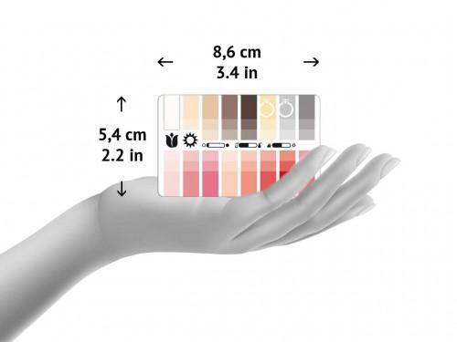 Größe der Karten-Farbpässe